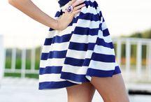 Nautical / #fashion #dress #blue #white #nautical