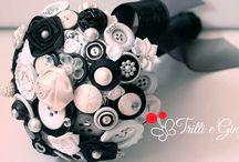 ♡ Black & White Wedding ♡ / matrimonio Black &white + bottoni