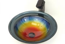 Glass Vessel / The hottest trend in bathroom design today is the handmade glass sink - often referred to as a vessel sink - which has become the latest must-have for luxury homeowners. Our glass vessel sinks come in a variety of color and shapes,  http://www.emoderndecor.com/