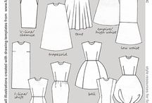 Fashion Flat Sketches