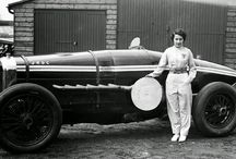women motor racing car drivers / Women who raced motor cars between the 1920s and the 1950s.