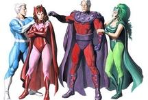 Comic art 34=Magneto's Family-Polaris-Quick Silver-Scarlet Witch