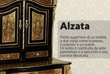 Glossario Antiquario / Un elenco di card che passano in rassegna alcuni tra i termini più comuni nel mondo dell'antiquariato; non manca qualche curiosità!