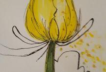 Tulpen tekenen