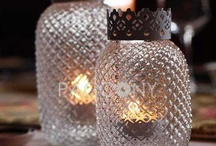 Candlelight / Interesting and unusual ways to decorate with candle light