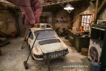 Auto diorami e modellini