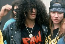 Slash and Axl Rose, Castle Donington Park, England, 1988