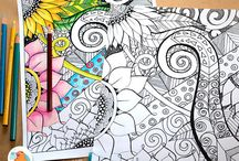 Adult Coloring Pages / Coloring Books for Adults, DIY Printables to Print and Color