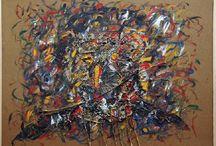 """Exhibiton """"PHILIPPE LOUGUET"""" / Philippe Louguet explora o gotejamento da tinta, aparentemente ao acaso, e a aplicação de camadas generosas de tinta para alternar resultados com conotações abstractas e realistas. Em um plano mais próximo dos trabalhos podemos pensar que estamos diante de formas que assemelham-se a borrões, de composições abstractas, descomprometidas com a rigidez da composição figurativa. Ao afastar-nos aproximamo-nos do conceito de representação, surgem imagens reconhecíveis."""