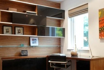 Home Offices With Open and Boxed Shelving