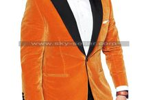 Kingsman 2 Taron Egerton (Eggsy) Orange Tuxedo Blazer / Buy this sophisticated Kingsman 2 Taron Egerton (Eggsy) Orange Tuxedo Blazer at most affordable price from Sky-Seller and avail free shipping