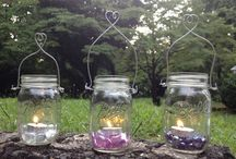 Barattoli vetro / Per decorare e illuminare