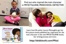 Mitzi Tulane, Preschool Detective books / MITZI TULANE, PRESCHOOL DETECTIVE is a new picture book series written by Lauren McLaughlin and illustrated by Debbie Ridpath Ohi. Launches July/2016 from Random House Children's. Bonus material: DebbieOhi.com/mitzi