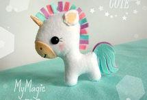 Felt unicorns
