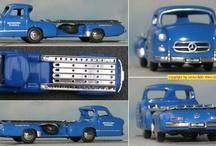 Fahrzeugmodelle (cars & trucks model-kits) / Modelle von Fahrzeugen aller Art, meist in 1:87 (H0)