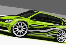 Fabia R 5 Combi concept / ŠKODA's designers have reinterpreted the Fabia R5 as an estate model to create the ŠKODA Fabia R5 Combi show car. The green, white and black ŠKODA Fabia R5 Combi will be driving onto the stage on 18-inch alloys. At the front, the powerful bumpers and wide air intake testify to the car's rallying ambitions. The wide contoured grille is finished in back, just as the wing mirror covers. Flared mudguards and powerful doorsills accentuate the model's racy appearance.