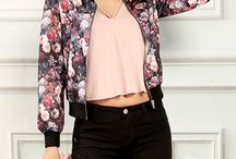 floral crop jacket outfit