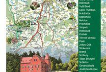 Turistická mapa - Region Touristkarte - Region-Touristic Map