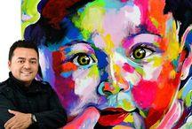 Hoover artista / Acrílico lienzo pintura