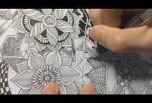 Drawing and Zentangle videos