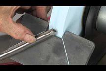 Sharpning carving knives