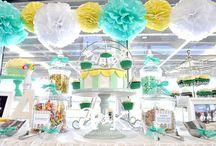 A&K Lolly Buffet {Pastel Green & Yellow Carnival Naming Day Dessert Buffet} / www.aandklollybuffet.com