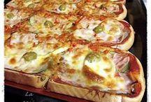 pan de molde y queso