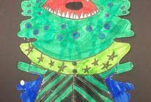 3rd Grade Projects / Third grade Art lesson ideas.