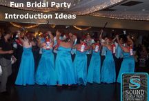 Bridal Party Introduction Ideas