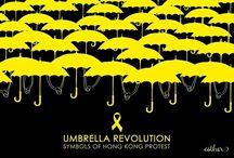 Logos of Umbrella Movement