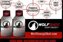 Wolfshot Hemp Energy Shots