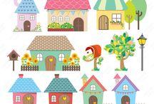 Clip art home