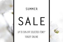 SUMMER SALE / Our summer sale is now on! with up to 50% off selected items in store and 10% off online! www.wjcoote.com/shop/