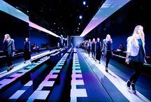 Mise-en-scène of the runway