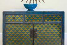 geometric furniture painting