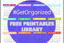 Free Organizing - Cleaning - Household lists downloads / All about getting organized, cleaning your house house fast, last minute or day by day. Free downloads of lists for all households, events, grocery shopping, meals, bills, mail, kids activities, projects, you name it!