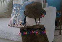 crochet raffia bag / hepsi el emeği