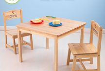 Personalized Kid's Chair and Table / Our Personalized Kid's Chair and Table will make his/her room extra special. Perfect to use for finger painting, reading, playing with his/her toys.