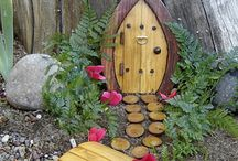 Fairy gardens / A miniature garden that is  created specifically for fairies with whimsical houses and fantastical furniture - and a fairy figure or two.
