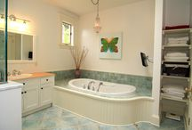 Bathrooms / Appreciating the beautiful showers, tubs and tile work