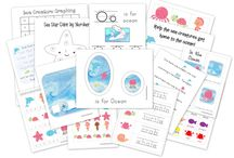 Speech Therapy- Ocean/Summer/Beach Theme / ocean/summer-themed activities for speech/language therapy