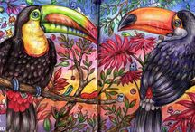 maľované tašky - vzory