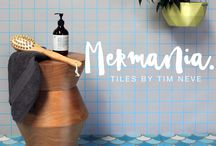 'Mermania' Tiles by Stylist Tim Neve / Introducing the first in Stylist Tim Neve's debut range of tile designs - titled 'Mermania'. Inspired by the quality of Moroccan tiles, his patterns have been transfered to a range of handmade Encaustic Tiles.  Following a timeless process and made of pressed cement, the pieces have a lovely chalky, matt patina with patches of imperfections a part of their charm. Shop the range at store.timneve.com