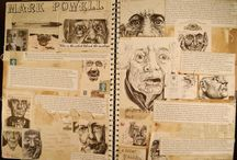 Artist research example pages