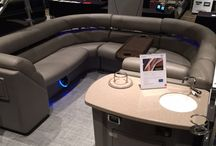 Pontoon Boats / Ultrafabrics materials can be found on the biggest names in pontoon boats. Application include helm seats, fishing chairs, bar stools, lounge chairs, and more...