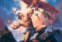 Box arts by Julie Bell. / Box arts by American fantasy painter, Julie Bell.