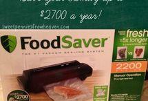 FoodSaver tips / by Carolyn Yates