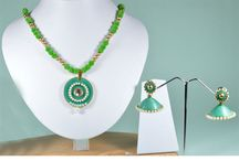 Paper Quilling Jewellery / Bella You Bring Handmade Paper Quilling Jewellery made of quilling paper. Elegant, Classy and Delicate Designer Paper Quilled Necklace Sets Will Add Bling to Your Look.