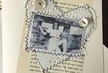 Personalised cards with photo transfer on fabric