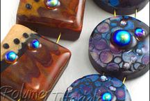 Faux finishes in polymer clay / Tutorials for creating faux finishes using polymer clay